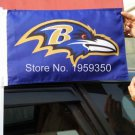 Baltimore Ravens Car flag 12x18inches 30x45cm double sided 100D Polyester