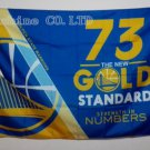 """Golden State Warriors number 73 car flag 30x45cm with 50cm car flagpole double sided 12""""x18"""""""
