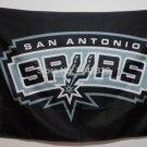 San Antonio Spurs regular logo black background Flag 3x5 FT 150X90CM