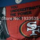 San Francisco 49ers star wars flag 3ftx5ft Banner 100D Polyester Flag metal Grommets