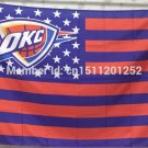 Oklahoma City Thunder Flag 3ft x 5ft Polyester NBA Banner Flying Custom flag 90x150cm