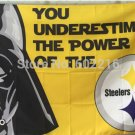 Pittsburgh Steelers star wars flag 3ftx5ft Banner 100D Polyester Flag metal Grommets