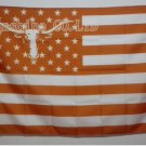 Texas Longhorns logo with US Stars and stripes Flag 3FTx5FT Banner 100D Polyester flag 90x150cm