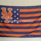MLB New York Mets Flag 3x5 FT 150X90CM Banner 100D Polyester flag