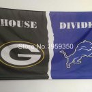 Green Bay Packers vs Detroit Lions House Divided Rivalry Flag 90x150cm