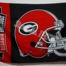 Georgia Bulldogs Football Helmet NCAA Fan Flag 3ft x 5ft Banner brass metal holes Flag