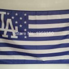Los Angeles Dodgers with starts and stripes flag 3x5 FT Banner 100D Polyester MLB Flag
