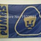 pumas logo flag 3ftx5ft 100D Polyester Flag metal Grommets 90x150cm