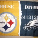 Philadelphia Eagles vs Pittsburgh Steelers House Divided Rivalry Flag 90x150cm