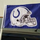 Indianapolis Colts Helmet car flag 12x18inches 30x45cm double sided 100D Polyester