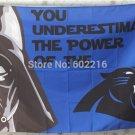 Carolina Panthers star wars flag 3ftx5ft Banner 100D Polyester Flag metal Grommets