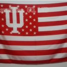 Indiana University Hoosiers with US stars and stripes Flag 3FTx5FT Banner 100D Polyester flag
