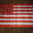North Carolina State Wolfpack With Modified US Flag 3ft x 5ft