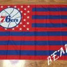 Philadelphia 76ers logo with US stars and stripes Flag 3FTx5FT Banner 100D Polyester flag