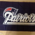 New England Patriots logo car flag 12x18inches double sided 100D Polyester NFL