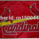 St. Louis Cardinals Team LOGO Flag 3ft x 5ft Polyester Banner 90x150cm metal grommets
