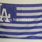 Los Angeles Dodgers with stripes flag 3x5 FT Banner 100D Polyester MLB Flag Brass Grommets