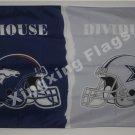 Denver Broncos vs Cowboys House Divided Rivalry Flag 90x150cm metal grommets