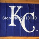 Kansas Royals logo flag 3x5 FT Banner 100D Polyester MLB Flag