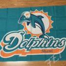 Miami Dolphins logo car flag 12x18inches double sided 100D Polyester NFL