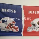 New England Patriots vs Arizona Cardinals House Divided Rivalry Flag 90x150cm metal grommets