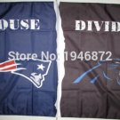 New England Patriots vs Carolina Panthers House Divided Rivalry Flag 90x150cm