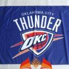 Oklahoma City Thunder big logo Flag 3x5 FT 150X90CM Banner 100D Polyester flag 2 metal holes