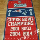 New England Patriots Super Bowl Champions flag 3ft x 5ft Polyester NFL Team Banner Flying Flag