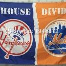 New York Yankees vs New York Mets house divided Flag 3ft x 5ft Polyester Banner 90x150cm