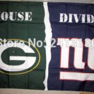 Green Bay Packers vs New York Giants House Divided Rivalry Flag 90x150cm 100D polyester