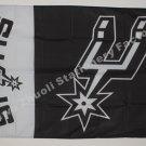 SAN Antonio spurs logo flag 3FTx5FT 150X90CM Banner 100D Polyester flag grommets