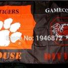 Clemson Tigers vs South Carolina Gamecocks House Divided Rivalry Flag 90x150cm