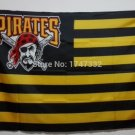 Pittsburgh Pirates Flag with stripes and logo 3ft x 5ft Polyester fans flags style 1