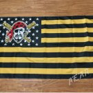 Pittsburgh Pirates Flag with stripes and logo 3ft x 5ft Polyester fans flags style 2