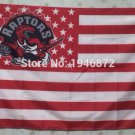 Toronto Raptors logo with US stars and stripes Flag 3FTx5FT Banner 100D Polyester flag 90x150cm