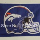 Denver Broncos Helmet logo car flag 12x18 inches double sided 100D Polyester 30x45cm
