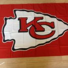 Kansas City Chiefs logo car flag 12x18inches double sided 100D Polyester NFL