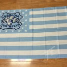North Carolina Tar Heels with start and stripe Flag 90x150cm Style 1
