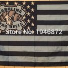 North Carolina Tar Heels with start and stripe Flag 90x150cm Style 2