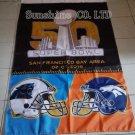 Denver Broncos vs Carolina Panthers Super Bowl Champions Flag 3ft x 5ft Polyester flag