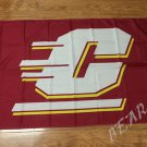 Central Michigan Chippewas Flag 3ftx5ft Banner 100D Polyester NCAA Flag