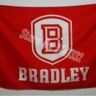 Bradley Braves Flag 3ftx5ft Banner 100D Polyester NCAA Flag style 2