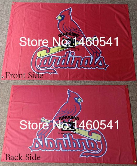 St Louis Cardinals logo Flag 3x5FT MLB Banner 90x150cm with metal grommets