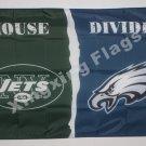 New York Jets vs. Philadelphia Eagles House Divided Rivalry Flag 90x150cm