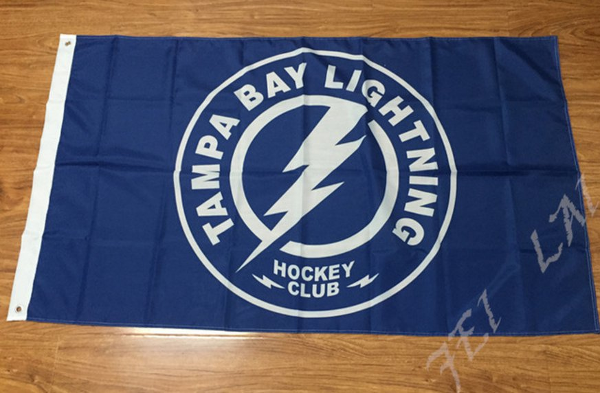 Tampa Bay Lightning Flag 3ftx5ft Banner 100D Polyester NHL Flag