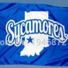 Indiana State Sycamores Helmet Flag 3ftx5ft Banner 100D Polyester NCAA Flag