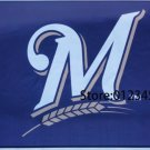 Milwaukee Brewers Logo flag 3x5 FT Banner 100D Polyester MLB Flag Brass Grommets