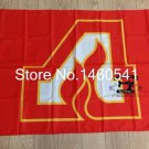 NHL Atlanta Flames Flag 3ftx5ft Banner 100D Polyester Flag