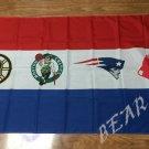 Boston Red Sox logo New England Patriots logo background flag 3x5 FT Banner 100D Polyester Flag
