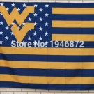 West Virginia Mountaineers Nation Flag 3ft x 5ft Polyester NCAA Banner Flying Custom flag 90x150cm